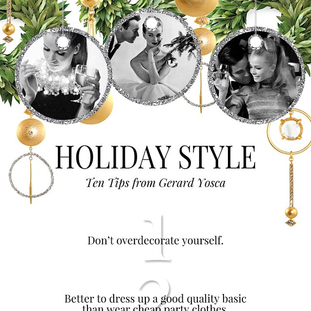 on the blog // ten tips for a stylish holiday from @gerardyosca