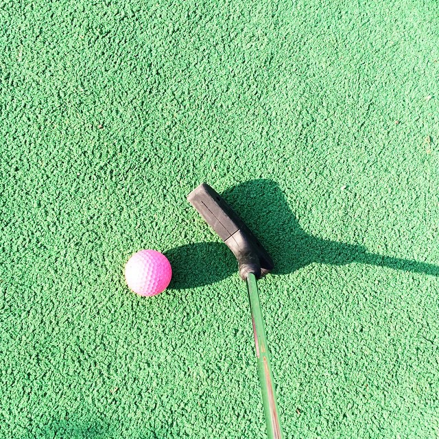 75 degrees calls for playing hooky and mini golf
