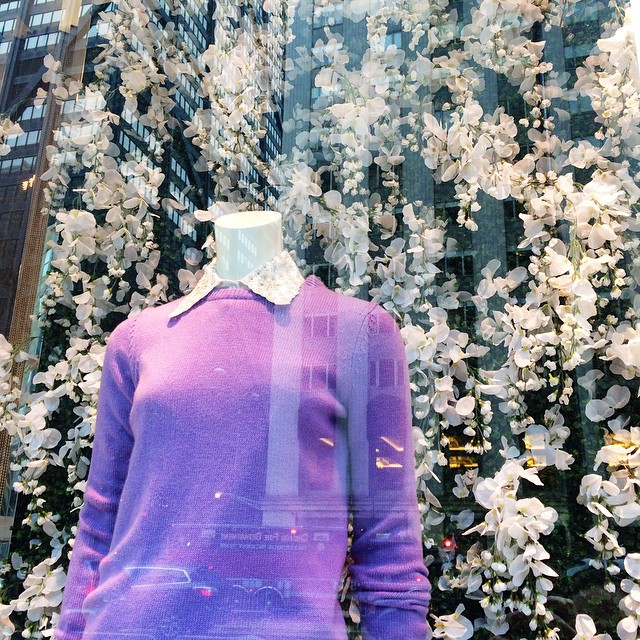 Obsessed with the pretty window display at Michael Kors