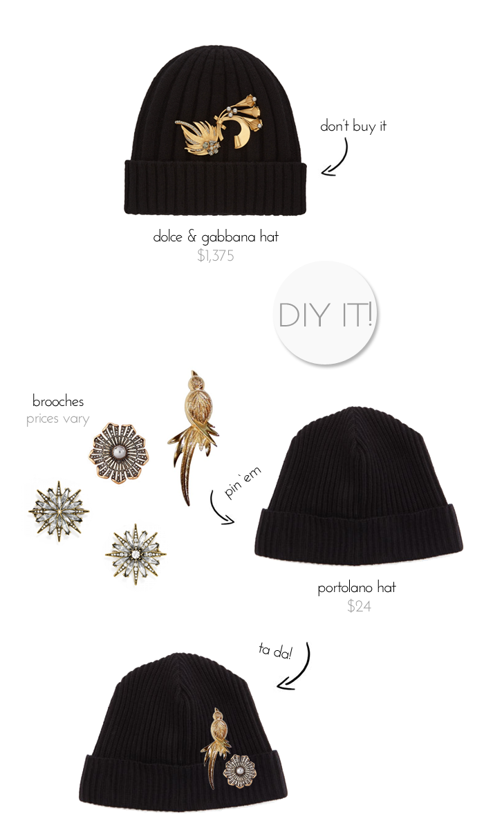 Dolce-and-Gabbana-brooch-beanie