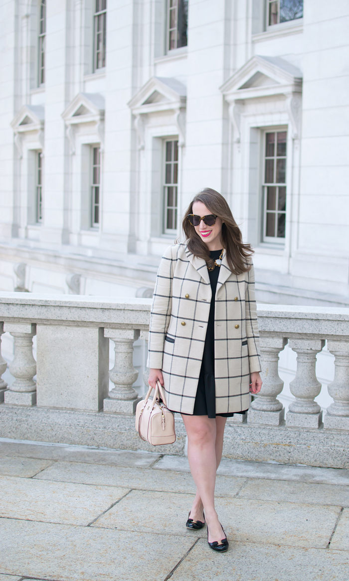 Tory Burch Plaid Coat