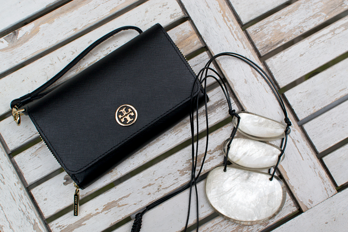 Tory Burch Clutch & H&M Necklace