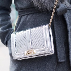 This mirrored silver purse is the perfect touch of holidayhellip
