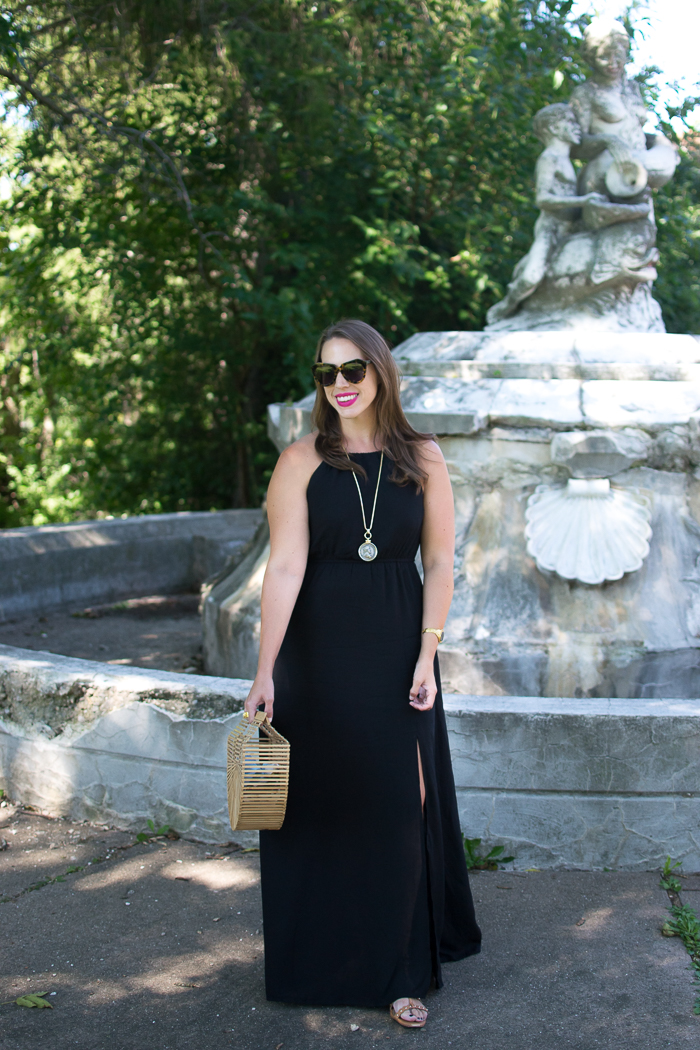 Tobi Black Maxi Dress