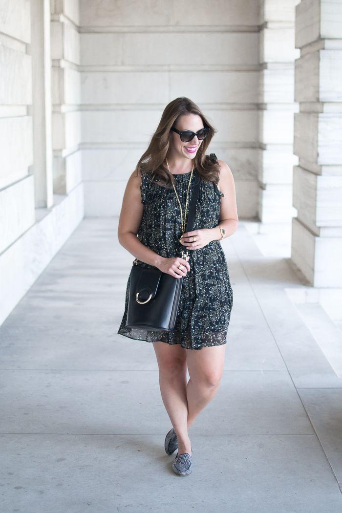 Joie Tahoma Dress + Kate Spade Carima Loafers