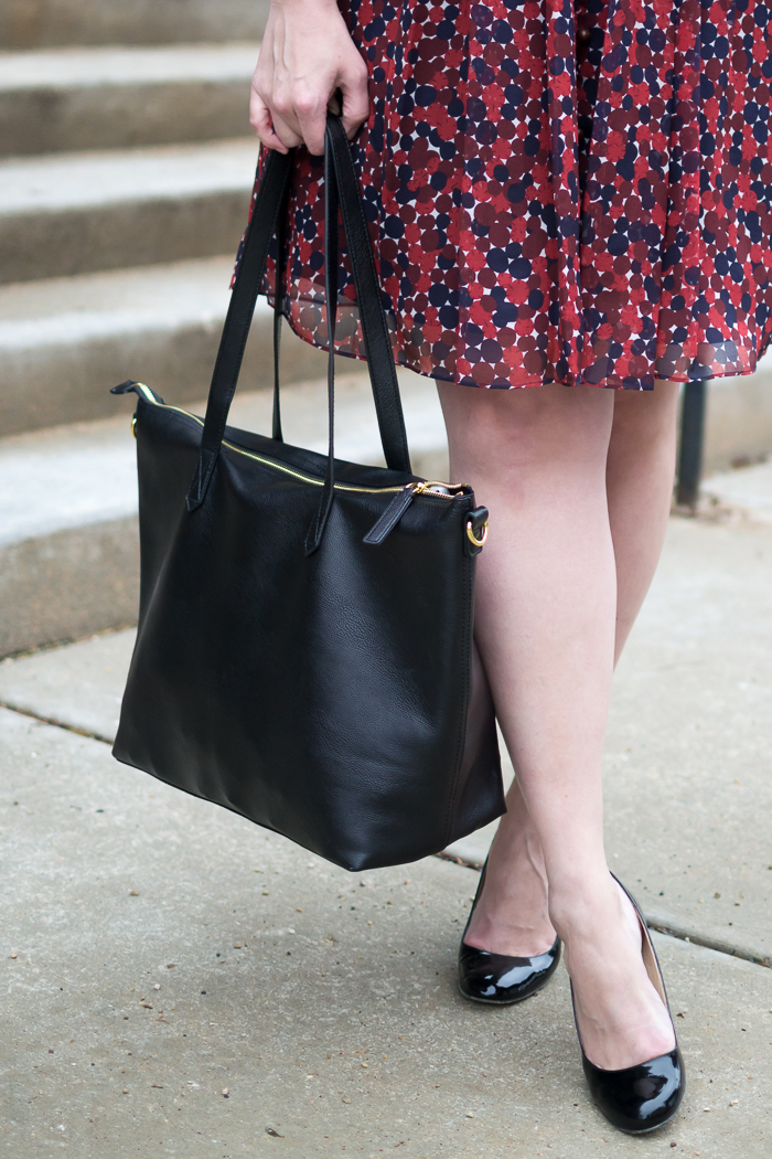 DVF Kourtni Dress + Old Navy Tote Bag