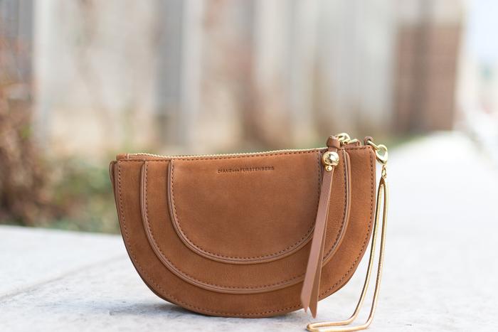 Diane von Furstenberg Bullseye nubuck-leather clutch