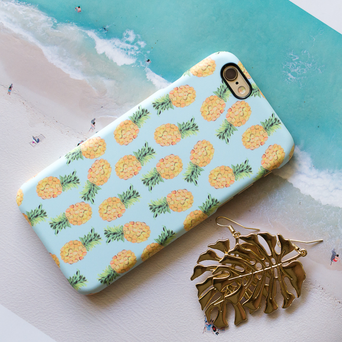 Caseable Pineapple-Print iPhone Case