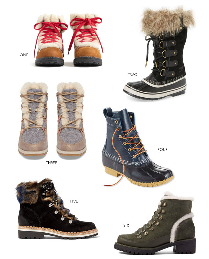 6 Pairs of Weatherproof Boots for Winter