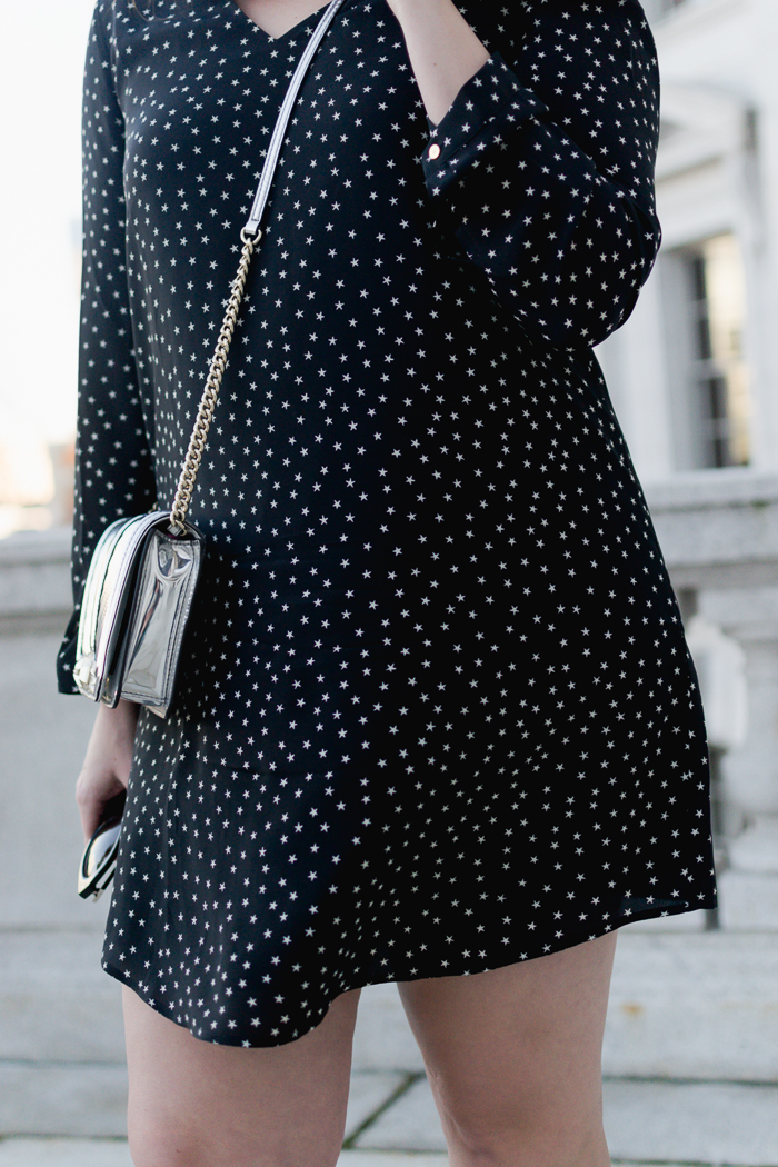 Madewell silk button-back dress in star scatter