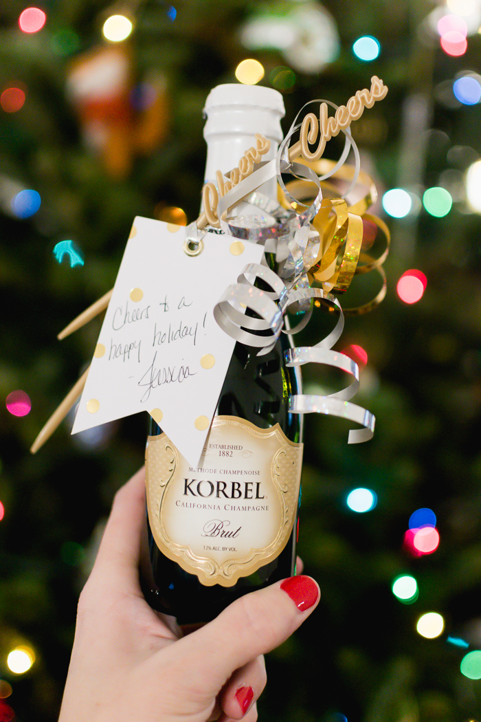 Last-Minute Holiday Gift: Mini Champagne