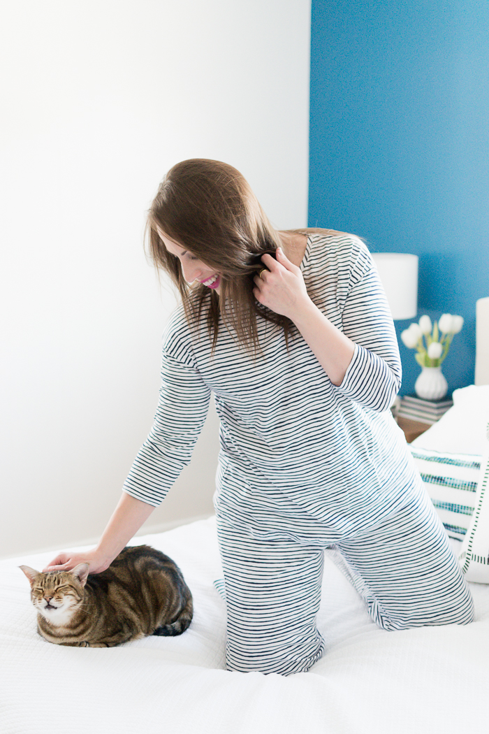 Garnet Hill Easy Knit Organic Cotton Pajamas