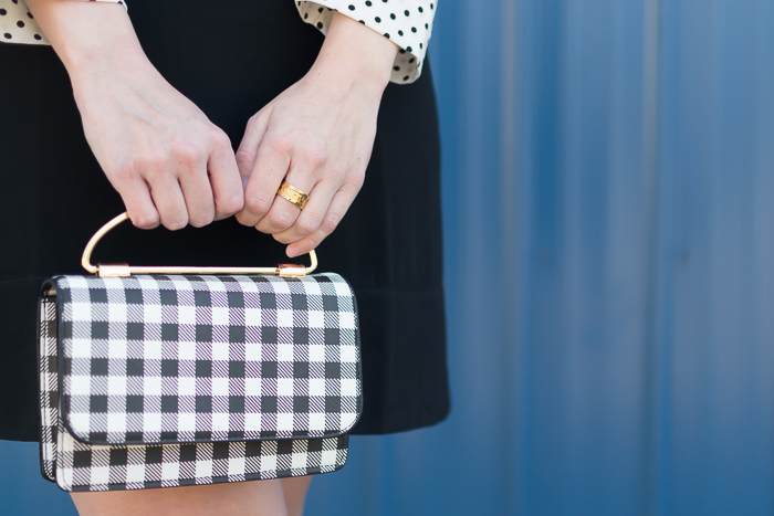 Who What Wear gingham purse