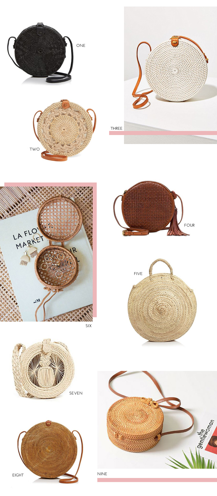 Circle Woven and Wicker Bags Under $150