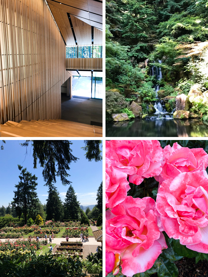 Top: Portland Japanese Garden | Bottom: International Rose Test Garden