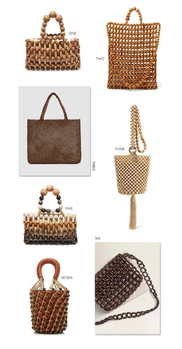 77536a6c634 Wood Bead Bags for Spring 2019