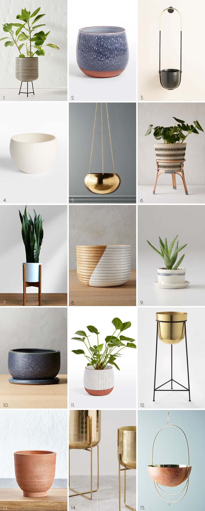 15 Chic Indoor Planters for Your Home