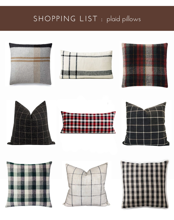 Plaid Throw Pillows for Fall & Winter
